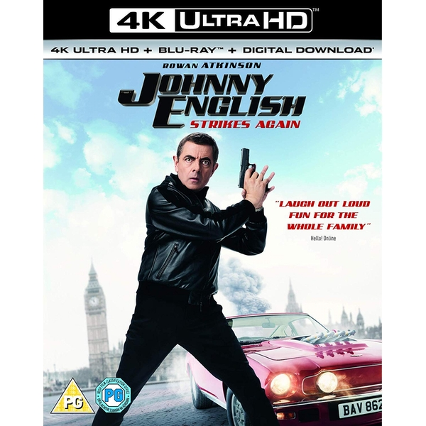 Johnny English Strikes Again 4KUHD   Blu-ray   Digital Download