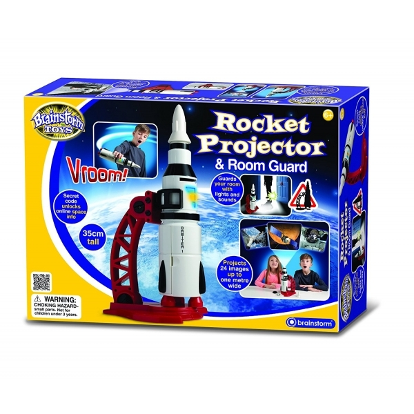 Ex-Display Brainstorm Toys Rocket Projector and Room Guard Used - Like New