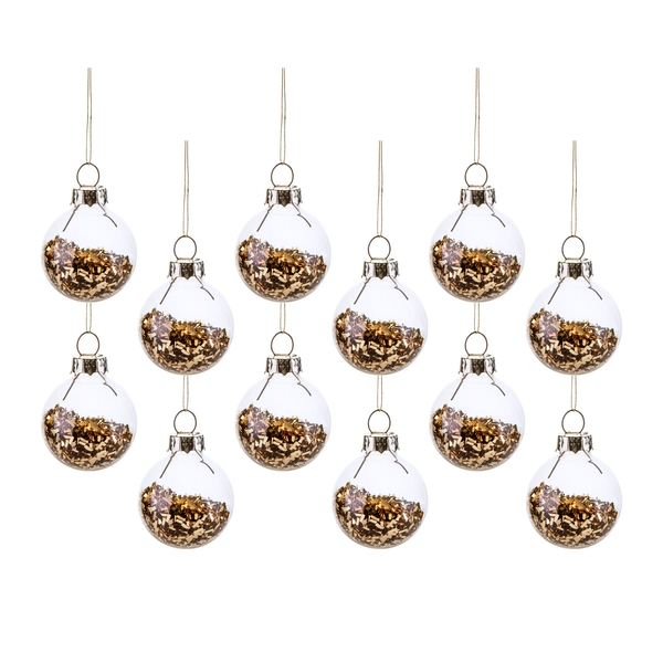 Sass & Belle (Set of 12) Gold Mini Baubles