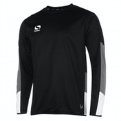 Sondico Venata Long Sleeve Jersey Adult Small Black/Charcoal/White