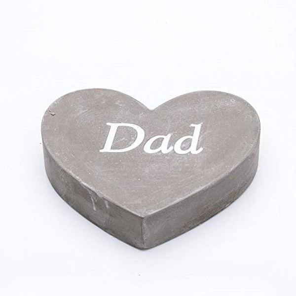 Thoughts Of You Graveside Concrete Heart - Dad