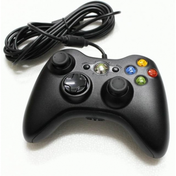Official Xbox 360 Wired Gamepad Controller Black Xbox 360