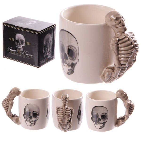 Skeleton Design Shaped Handle Mug