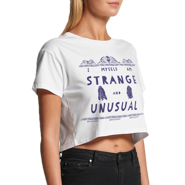 Beetlejuice - St And Unusual Women's Medium Crop Top - White