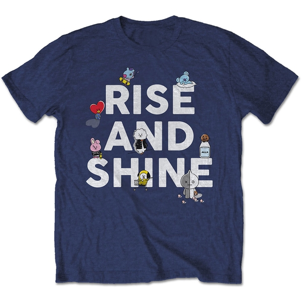 BT21 - Rise And Shine Unisex Small T-Shirt - Blue