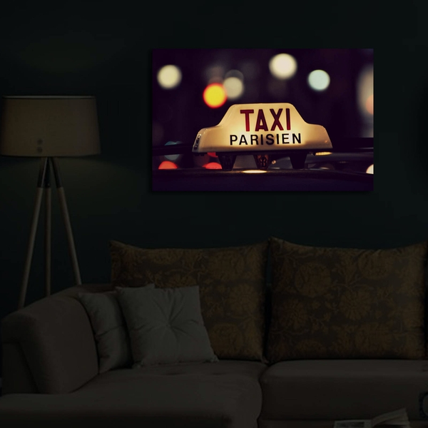 4570?ACT-34 Multicolor Decorative Led Lighted Canvas Painting