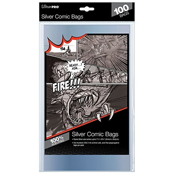 Ultra Pro Silver Comic Bags: Pack 100