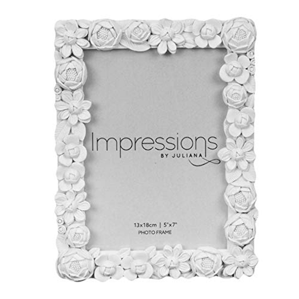 "5"" x 7"" - Impressions Little White Flower Resin Photo Frame"