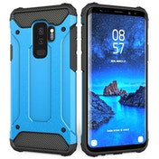 Samsung Galaxy S9 Plus Armoured Shockproof Carbon Case - Sky Blue