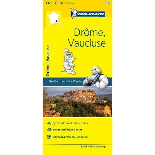 Drome, Vaucluse - Michelin Local Map 332 Map Sheet map 2016