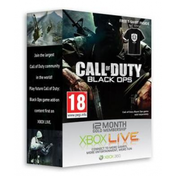 Call Of Duty Black Ops Branded 12 Month Gold Membership & T-Shirt Xbox 360