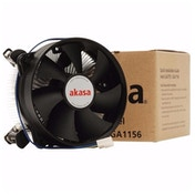 Akasa AK-CCE-7104EP Intel Socket 92mm PWM 3000RPM Black Fan CPU Cooler