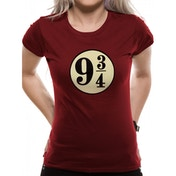 Harry Potter - Platform 9 3/4s Women's Small T-Shirt - Red