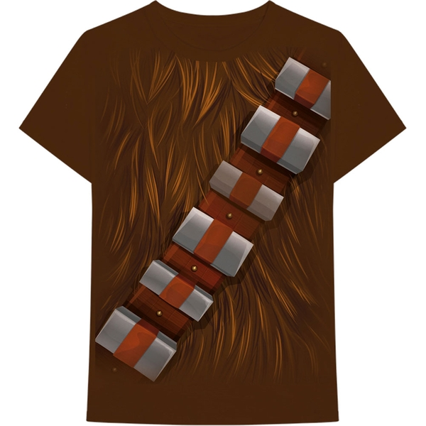 Star Wars - Chewbacca Chest Men's Small T-Shirt - Brown