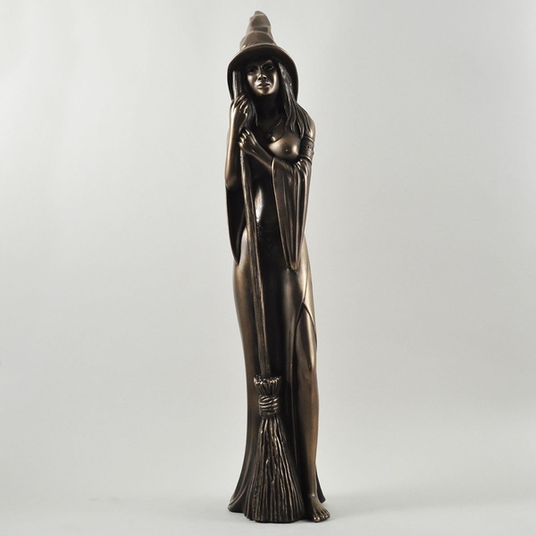 Witch with Bronze Ornament 44cm (Large)