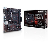 Asus Prime B350M-E, AMD B350, AM4, Micro ATX, 2 DDR4, VGA, DVI, HDMI, LED Lighting