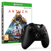 Anthem Xbox One Game + Official Microsoft Black Wireless Controller