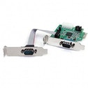 2 Port Low Profile Native RS232 PCI Express Serial Card with 16950 UART