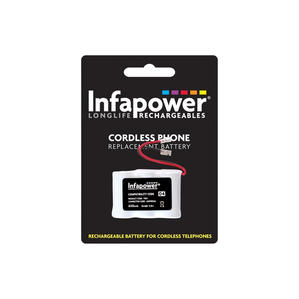Infapower Rechargeable Ni-MH Battery for Cordless Telephones 3x 1/2 AA 3.6v 650mAh