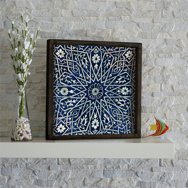 KZM552 Multicolor Decorative Framed MDF Painting