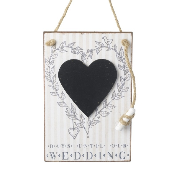 Days Until Our Wedding Chalkboard By Heaven Sends