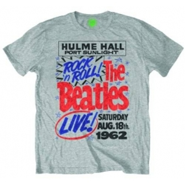 The Beatles Rock n Roll Mens Grey Heather T Shirt: Small