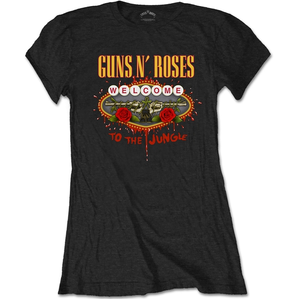 Guns N' Roses - Welcome to the Jungle Women's Large T-Shirt - Black