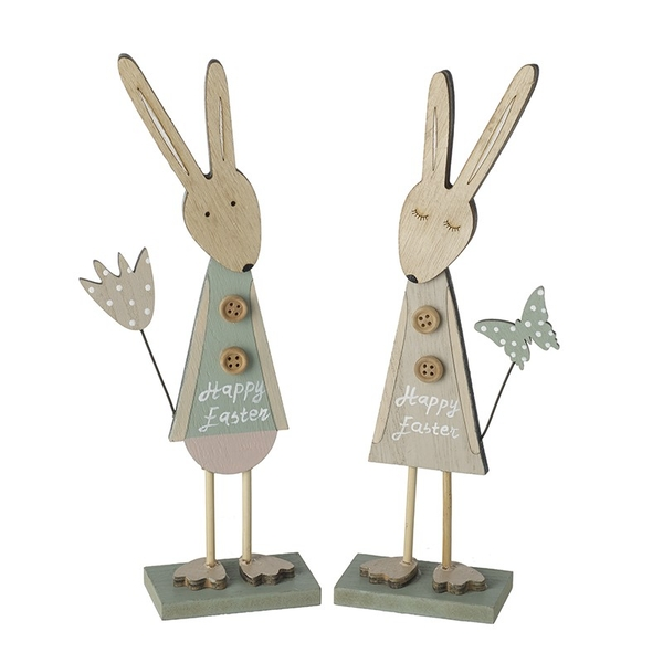 Pastel Happy Easter Standing Bunnies By Heaven Sends (One Random Supplied)