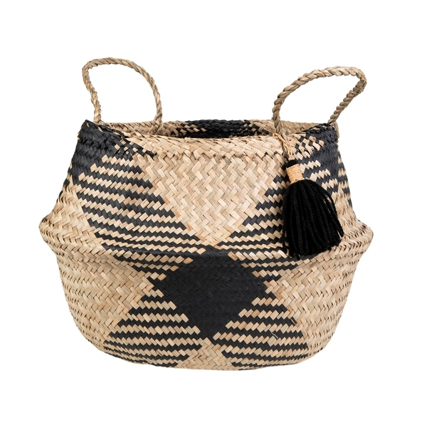 Sass & Belle Black Tribal Tassel Basket