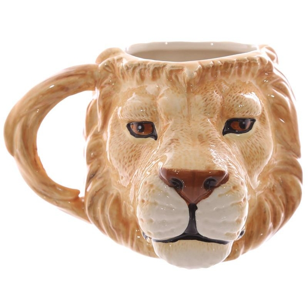 Lion Head Shaped Ceramic Mug