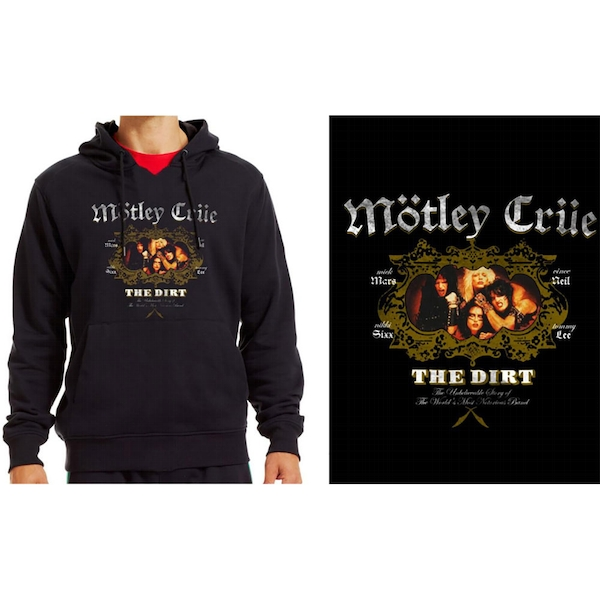 Motley Crue - The Dirt Men's Large Pullover Hoodie - Black