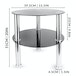 Small Round Glass 2 Tier Table | M&W Black - Image 8