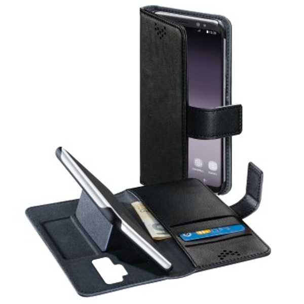 """Hama """"Stand-Up"""" booklet for Samsung Galaxy S9+, black"""