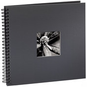 Fine Art Spiralbound Album 36 x 32 cm 50 black pages (Grey)