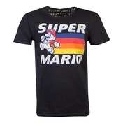 Nintendo - Running Mario Unisex Medium T-Shirt - Black