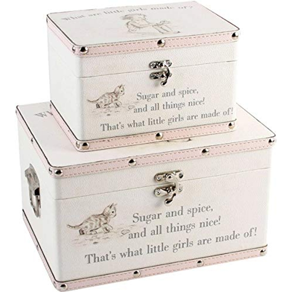 Petit Cheri Set of 2 Luggage Boxes - Little Girls