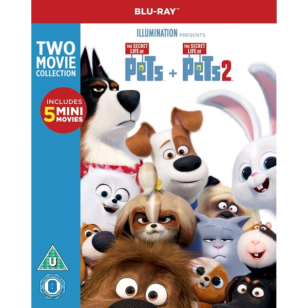 The Secret Life of Pets 1 & 2 Blu-ray