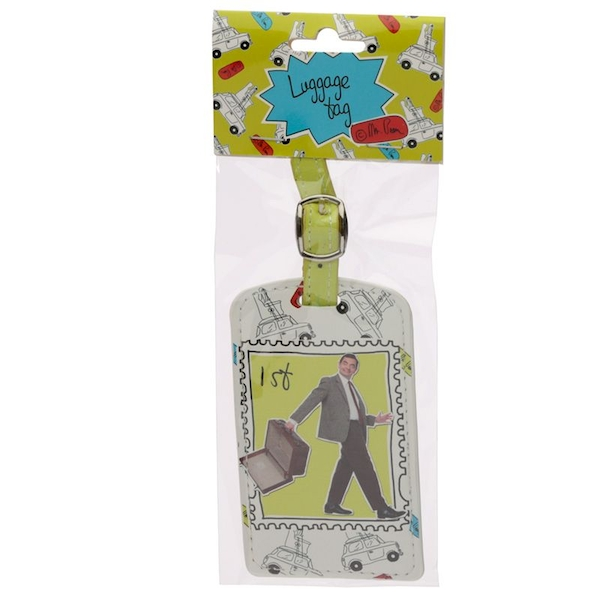 Mr Bean 1st Class Stamp Luggage Tag