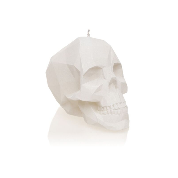 White Large Low Poly Skull