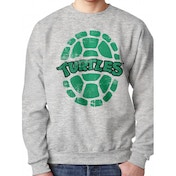 Teenage Mutant Ninja Turtles - Shell Men's Small Crewneck Sweatshirt - Grey