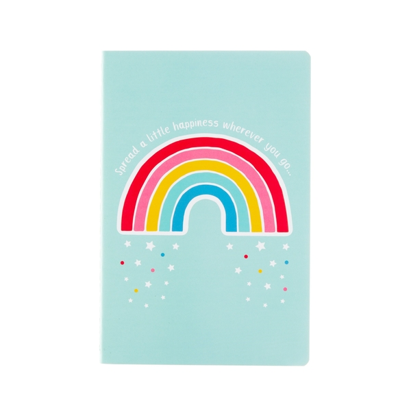 Sass & Belle Chasing Rainbows Spread Happiness A5 Notebook