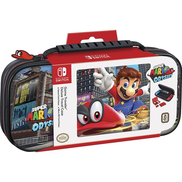 Nintendo Switch Officially Licensed Mario Odyssey Deluxe Travel Case