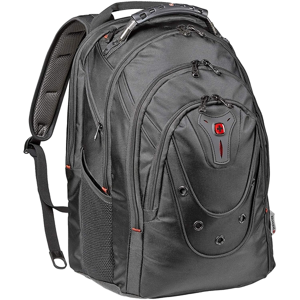 """Wenger 605501 17"""" Ibex 125th Anniversary Laptop Backpack with Tablet Pocket - Black 26 Litres"""
