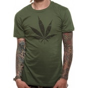 CID Originals - Ganja Leaf Men's XX-Large T-Shirt - Green