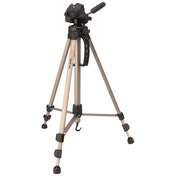 Camlink TP2100 3 Section 3 Way Pan Tilt Head Tripod and Case Max Height 57 Inches