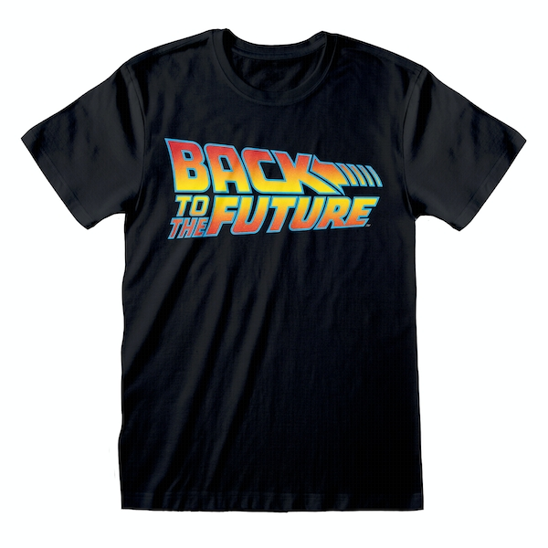Back To The Future - Vintage Logo Unisex Large T-Shirt - Black