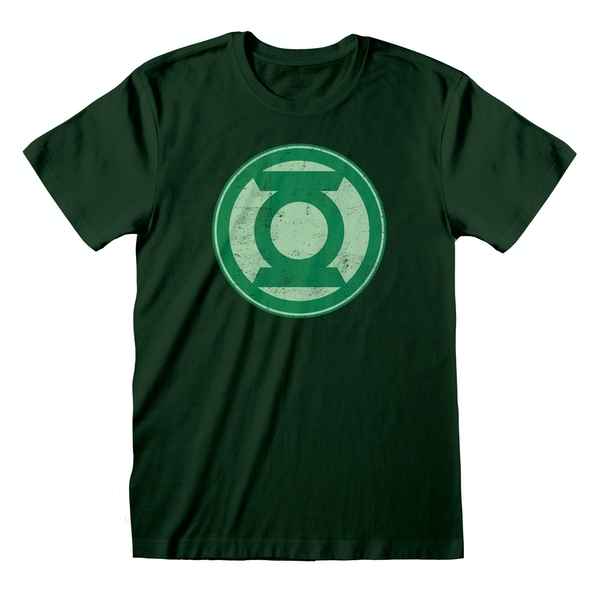 DC Green Lantern - Distressed Logo Unisex Large T-Shirt - Green