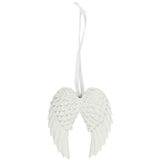 Double Angel Wing Hanging Decoration Pack Of 6