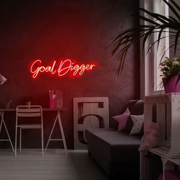 Goal Digger - Red Red Wall Lamp