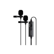"Maono Lavalier Tie-Clip On Lapel Microphone Dual Head 3.5mm 4 Pole Jack 0.25"" Adapter"